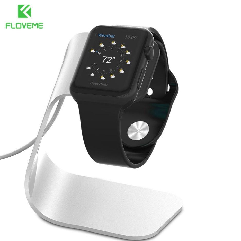 Floveme metal alumínio carregador suporte para apple watch suporte de carregamento suporte berço para apple eu relógio estação doca carregador