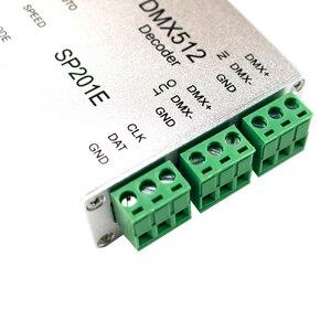 Image 4 - SP201E DMX512 decoder ws2812B ws2801 WS2811 1903 DMX dmx512 rgb led controller DMX BOARD IC led strip LED SPI Converter DC5V/12V