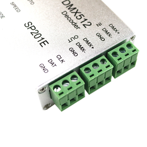 Image 4 - SP201E DMX512 decoder ws2812B ws2801 WS2811 1903 DMX dmx512 rgb led controller DMX BORD IC led streifen SPI Konverter DC5V/12 V
