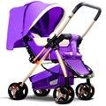 Two-way luz carrinho de bebê dobrável choque guarda-chuva carro bb carrinho de bebê de quatro rodas da criança