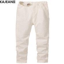 KAJEANII 2017 Spring Autumn Summer Loose-fitting Girls Pants Cotton Bow Trousers Leisure Kids School Teens Children Pants