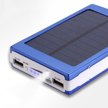 30000mAh o dużej pojemności bateria słoneczna przenośna ładowarka podwójne wyjście USB bateria zewnętrzna długotrwała do telefonu komórkowego Solar tanie tanio Marsnaska Panel słoneczny 123*76*20mm DZ00907-01 Other Polymer lithium ion battery Durable plug and play 5V-2 1A 5V-1A