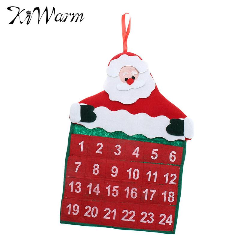 linda navidad tiempo de cuenta atrs calendario calendarios de tela adornos figurines diversin de navidad pap