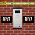 2 units apartment intercom system  video door phone intercom doorbell for apartment video intercom home intercom system