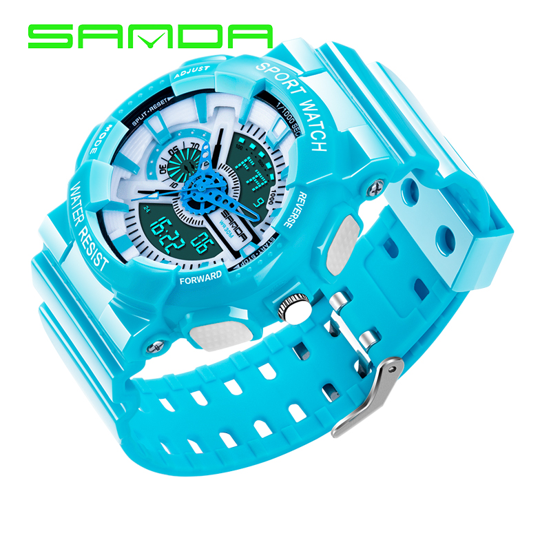 SANDA Fashion Children Watch Student LED Digital Clock Date Alarm Digital Wrist Watch Boy Grils Student Gifts