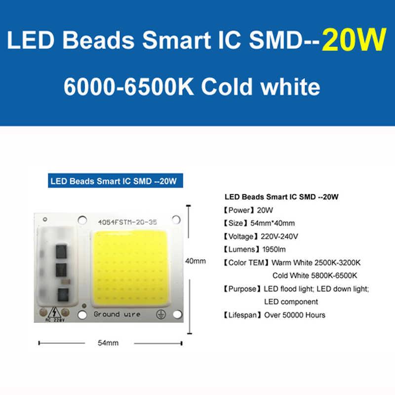 YOYOLUO светодиодный чип 220 В 5 Вт 15 Вт 20 Вт 30 Вт 50 Вт холодный белый теплый белый светодиодный COB умный IC драйвер подходит для DIY светодиодный прожектор