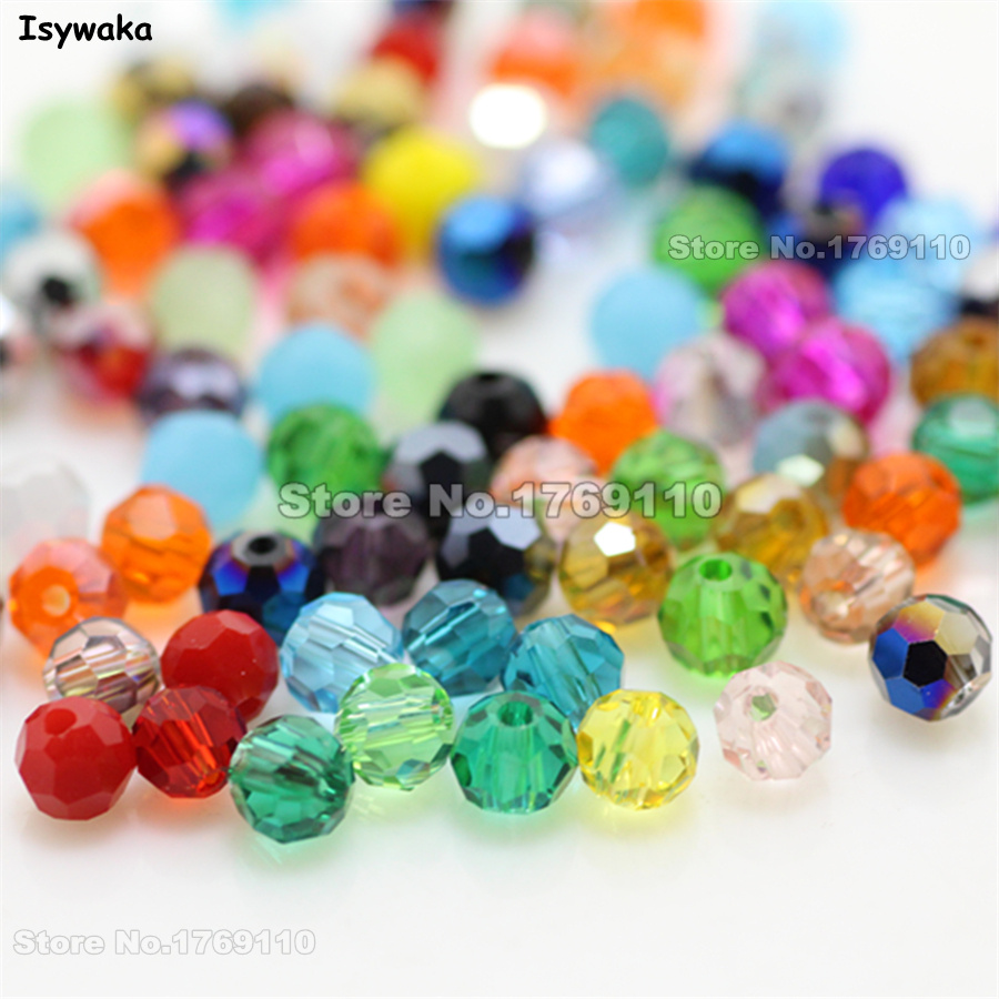 Jewelry & Accessories Isywaka Non-hyaline White Ab Color 98pcs 4mm Round Austria Crystal Bead Ball Glass Bead Loose Spacer Bead For Diy Jewelry Making Beads