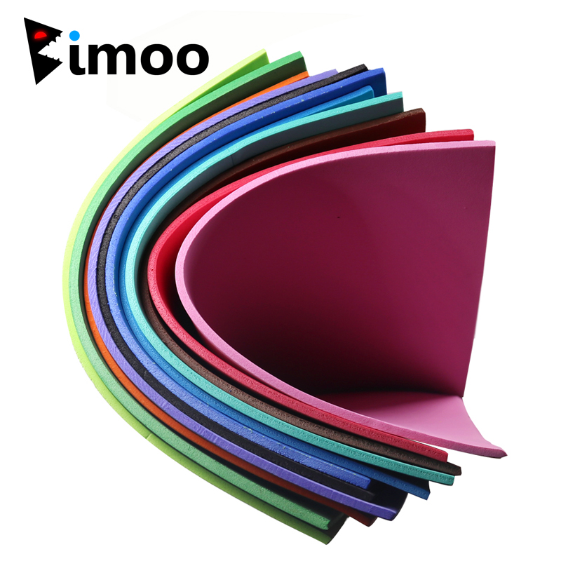 Bimoo 1PC 3mm Fly Tying Foam Sheet Chartreuse Green Orange Floating Dry Fly Grass Hopper Popper Fly Tying Material 24X24cm bimoo 6packs bright artificial fiber for fly tying streamer salmon pike fly sabiki rig making material fluo green pink yellow