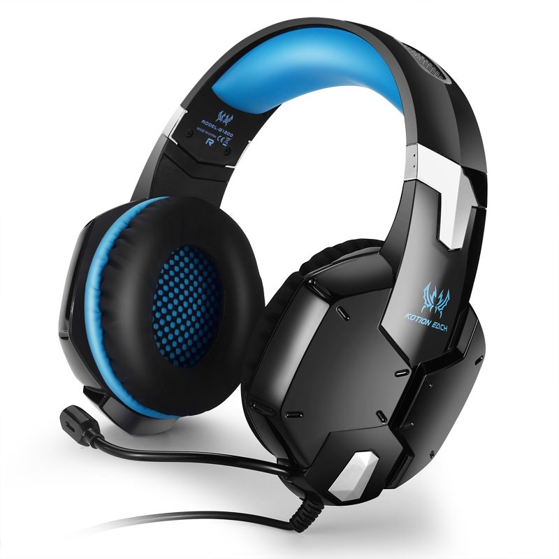 KOTION EACH G1200 Gaming Headset 3.5mm Game Headphone Headband Gaming Headphone with Mic Stereo Bass for PC Laptop Mobile Phones