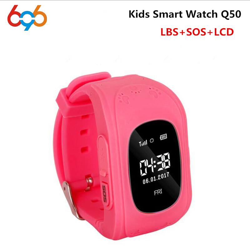 Hot Sale Q50 Kids Smart Watch with LBS Positioning LCD Color Display Multiple Languages Kids smartwatch with SOS Button for Help