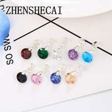 2017 Style Cubic Zirconia 8mm Chain & Pendants Silver Color Fashion Crystal Wedding Jewelry For Women x164(China)