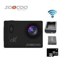 Free Shipping 32GB SOOCOO C30 WiFi Full HD 1080P 2 0 Inch LCD NTK96660 Waterproof Sports