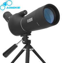 Wholesale prices AOMEKIE 20-60X60 Zoom Spotting Scope with Tripod HD Optical Prism FMC Lens Birdwatching Hunting Shotting Monocular Telescope