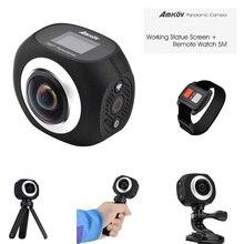 360 панорамная камера AMK360S Wi-Fi мини-супер широкоугольный объектив 220 градусов рыбий глаз Спорт вождения действий Камера