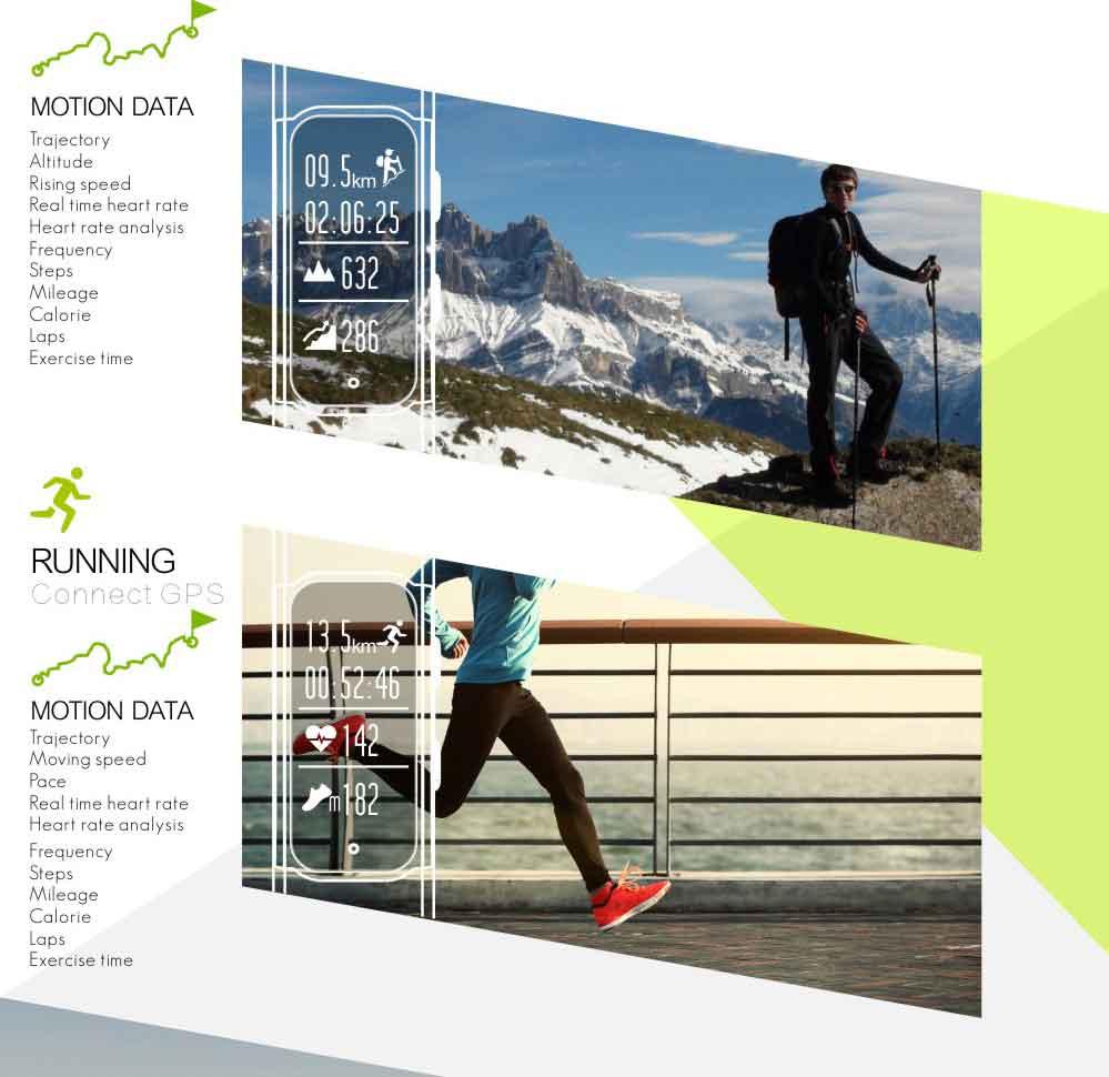 LEMDIOE Heart Rate Smart Wristband GPS Track Record Smart Band 2 Sleep Pedometer Bracelet Fitness Tracker Smart Watch Relogio 8
