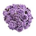 FJS-50 Pcs engaste Colourfast espuma ramo color de rosa Púrpura