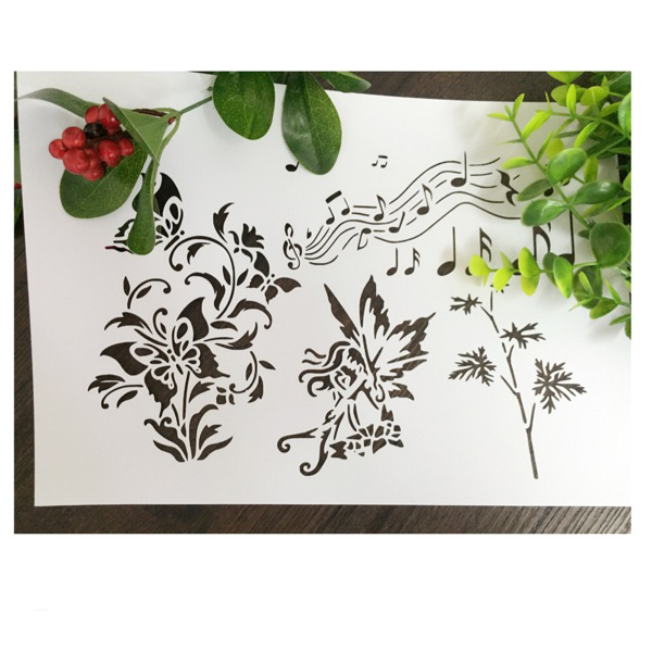 Musical Note Wizard Weed Scrapbooking Tool Diy Album Masking Spray