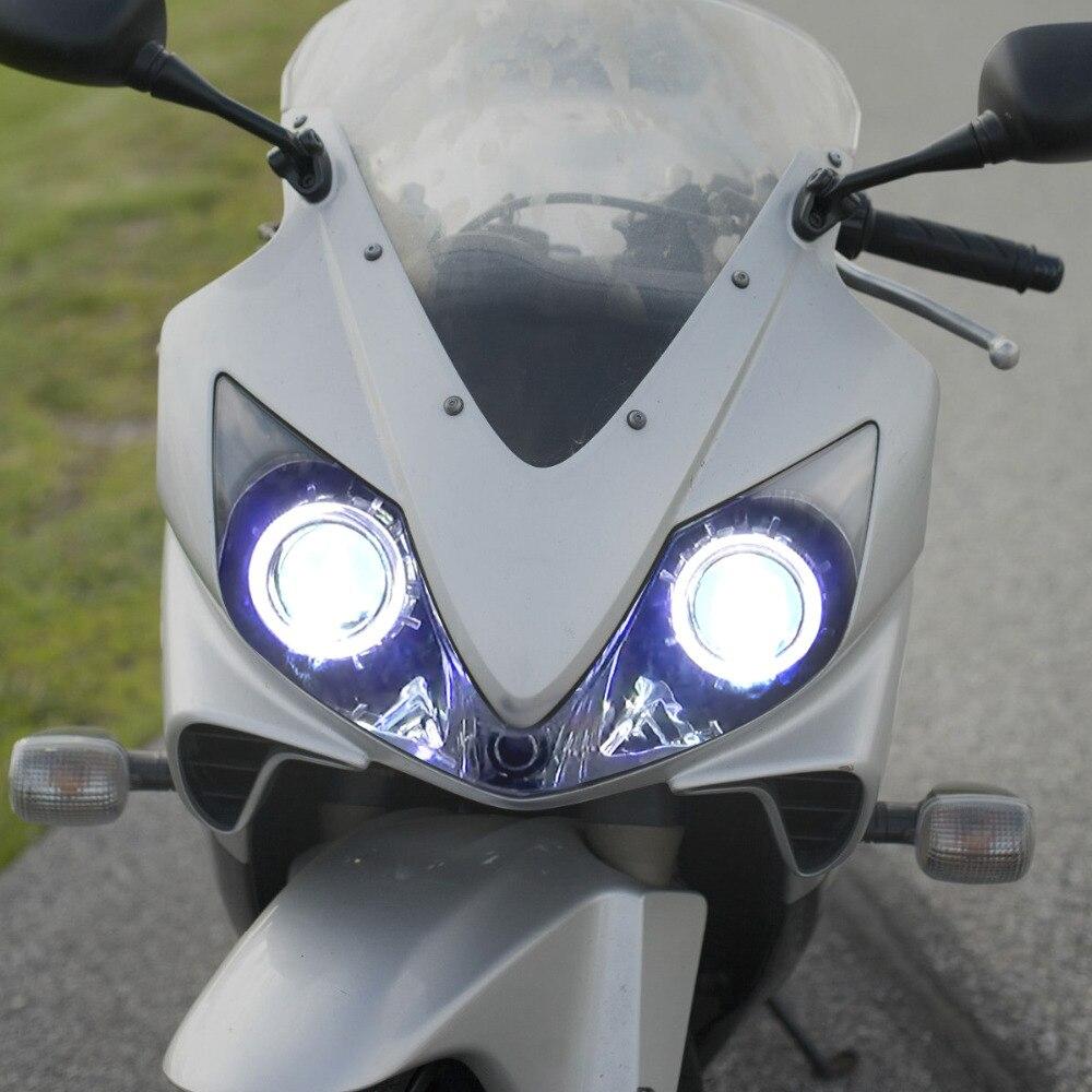 Kt Headlight Suitable For Honda Cbr600f4i 2001 2007 Led Angel Eyes