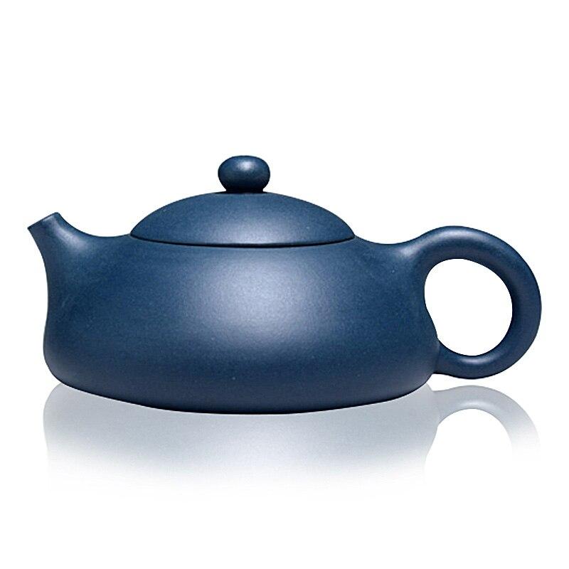 220ml Handmade Jiangsu Yi Xing Green Ink Green Mud Dong Po Shi Piao Purple Clay Teapot