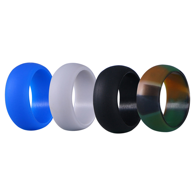 4 Pcs Men S Silicone Ring Silica Gel Rubber Wedding Bands For Sports