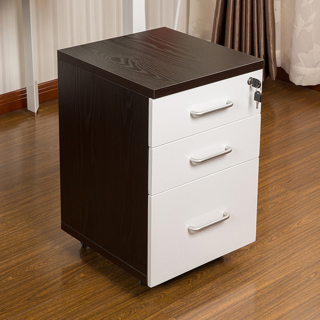 Man Patriarch Clic Black And White Wooden File Cabinet With Lock Three Drawers Office Mobile Activities