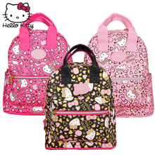 Hello Kitty Bag Children's Cartoon Backpack PU Leather Baby KT Pink Multifunctional Backpack Girl Schoolbag Shoulder Plush Gift hello kitty plush toys for children pink veil kt doll baby gifts