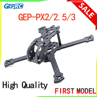 GEPRC GEP PX2 115mm/PX2.5 125mm/PX3 140mm Wheelbase 3mm Arm 3K Carbon Fiber Frame Kit for RC Drone DIY FPV Racing Quadcopter