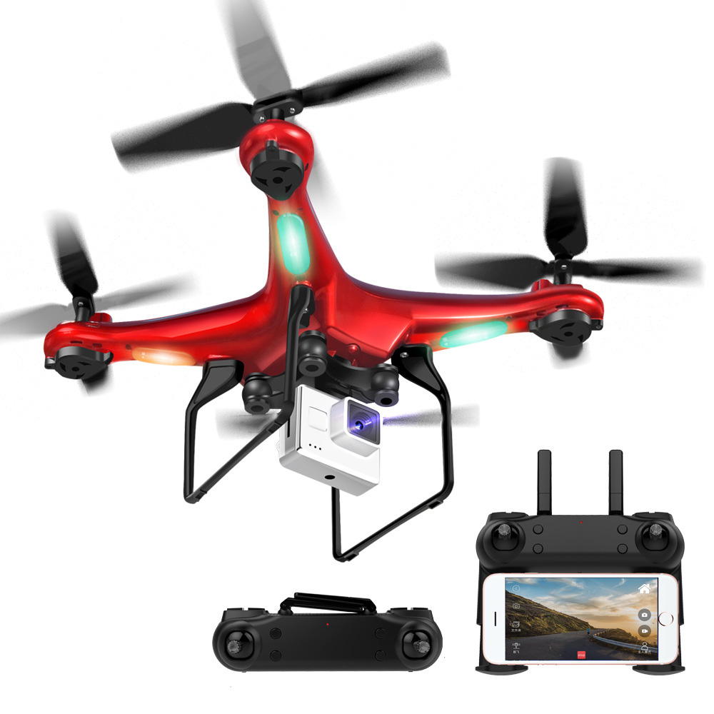 DM106 Drone WIFI FPV With Wide Angle 0.3MP HD Camera Altitude Hold Mode Foldable Arm RC Quadcopter Remote Control Toy new wifi fpv rc quadcopter with hd camera 2 4ghz remote control rc drone with led night light altitude hold mode 360 degree roll