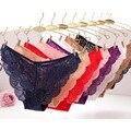 Cheia Do Laço Sexy Calcinha, Mulheres Plus Size-Virilha Aberta Transparente Floral Bow Suave Briefs Underwear