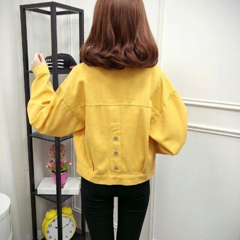 FTLZZ Women Denim Jackets 2019 Spring Autumn Streetwear Loose Coat For Women Jeans Coat Cowboy Short Tops