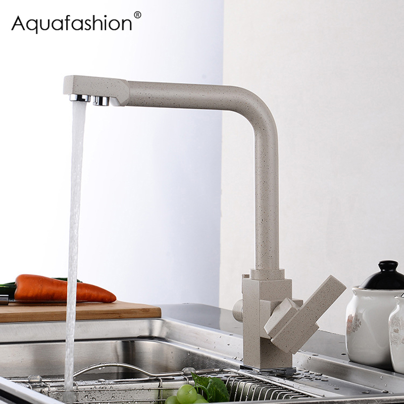 Luxury Water Filter Dual Function Kitchen Faucet Drinking Water Mixer Taps Chrome Khaki Black Kitchen Faucet with Filtered Water kitchen water filter faucet chrome