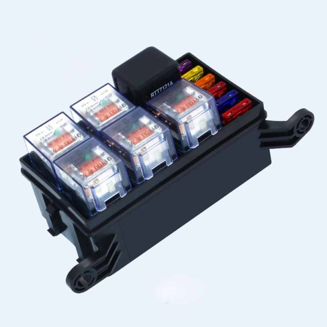 Car Fuse Box DC12V 24V 80A 6 Relay Block 5way for  Nacelle Car Trunk Insurance full Set