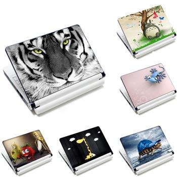 """14 """"15.4"""" 15.6 """"동물 프린트 노트북 스킨 데칼 스티커 커버 pvc 노트북 pc 재사용 가능한 수호자 macbook 용 lenovo hp asus acer"""