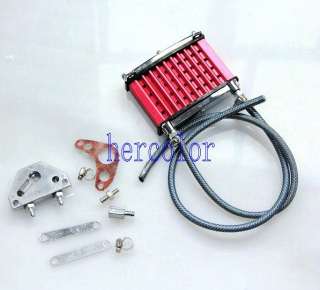 Red OIL COOLER KIT + FACE PLATE ALLOY Monkey PITBIKE Special Price Gift