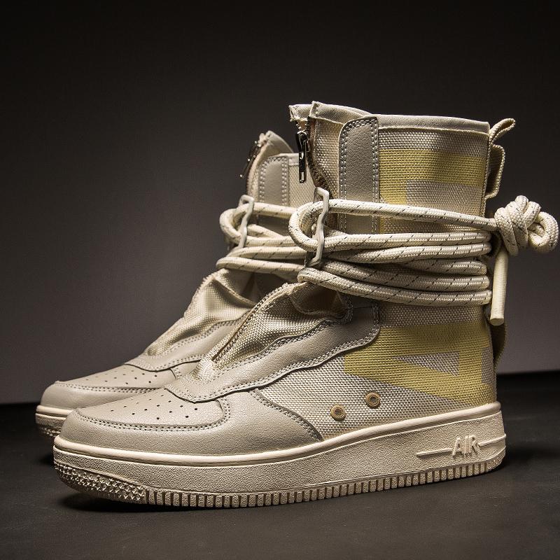 Designer Hip Hop Mens Shoes Casual Shoes Men Tenis Sapato Masculino Heren Schoenen High Top Sneakers Basket Man Shoes 25D50