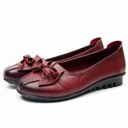 GKTINOO 2019 Shoes Woman Genuine Leather Women Shoes 3 Colors Loafers Women's Flat Shoes Fashion Women Flats 2