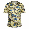 2016 Womens Tees Camisetas de Mujeres Camiseta Linda Moderna HD 3D Divertido Despicable Me Cartoon Imprimir Casual Tops Ropa