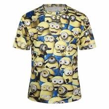 2016 Women T-shirts Cute T Shirt Modern Womens Tees HD 3D Funny Cartoon Despicable Me Print Casual Tops Clothes