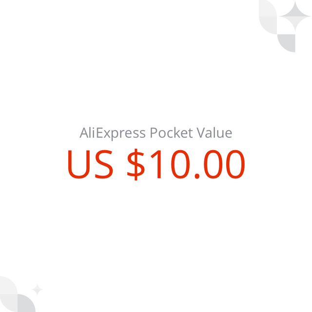 US $ 10 AliExpress Pocket