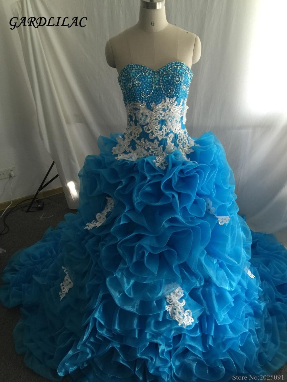 Luksuslik sinine Quinceanera kleidid 2019 Kallike palli kleit kristallhelmedega Vestidos De 16 Anos Odavad Quinceanera hommikumantlid