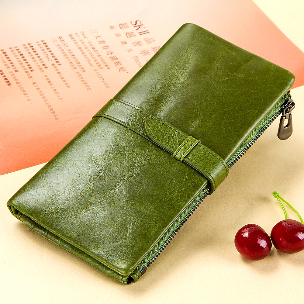 GZCZ New Wallets Women Purse Brand Coin Purse Zipper Wallet Female Long Walet Lady Genuine Leather Slim Purse With Phone Holder cossroll brand women wallets genuine leather long thin purse clutches bags cards holder zipper phone pocket lady party wallet