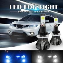 цена на Car Fog Light Dual Color 160W 880 881 LED Fog Light Bulbs 6000K White + 8000K Ice Blue Colors Strobe Lamp Bulb COB Bulb Kit