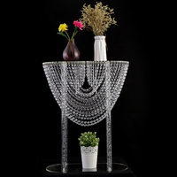 HeyMamba Crystal Acrylic Wedding Centerpiece Candle Holder Stand Wedding Table Flower Stand Wedding Party Event Decoration Prop
