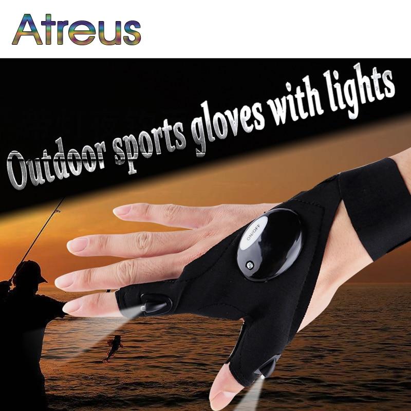 Atreus Glove LED Flashlight Nighttime Repair Rescue Tool For VW Polo Jetta Toyota Corolla Mercedes gLA saab Renault Dacia Duster