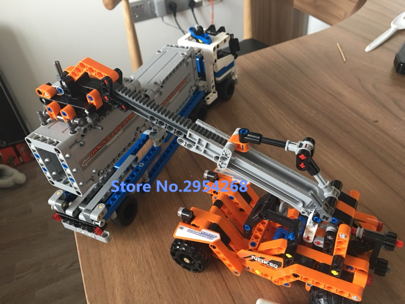 20035 technic The Container Trucks and Loader model Building kit Blocks brick Model Toys kid boy Children gift Compatible 42062