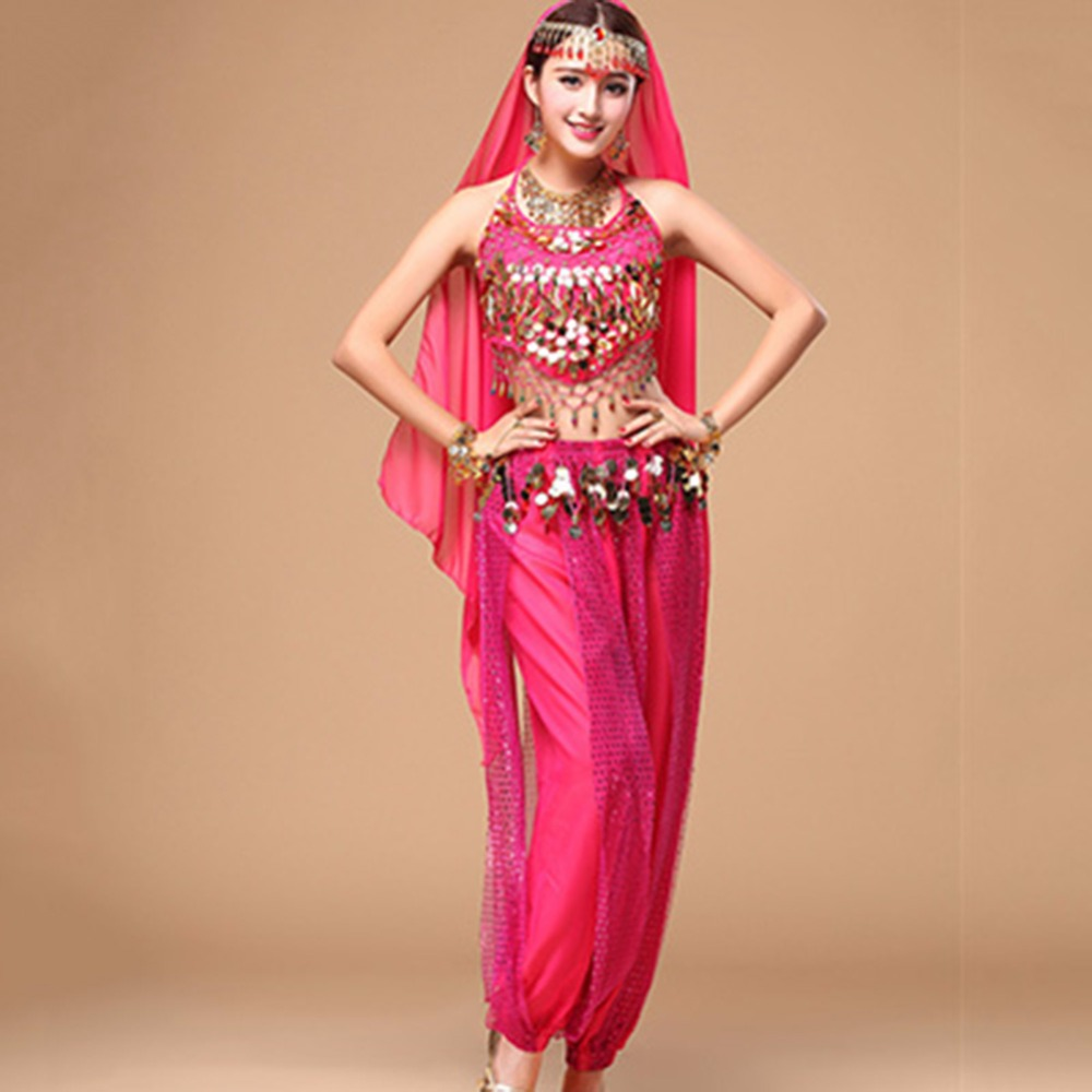 Fantasia Belly Dance Costume For Ladies Red Pink Blue Original Brace Set For Traditional Woman