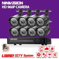Security IP NVR Sony 1200TVL Surveillance CCTV System 8ch Full 960H DVR IR Cameras Surveillance System
