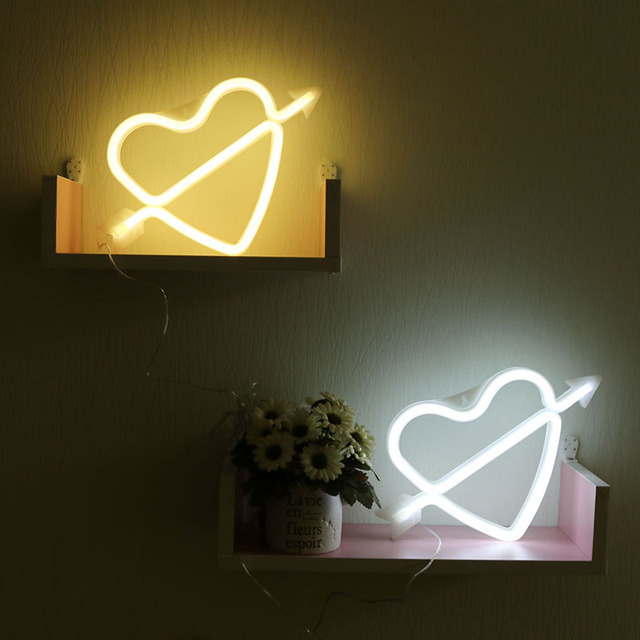 Heart Neon Lights Battery Operated & USB 1