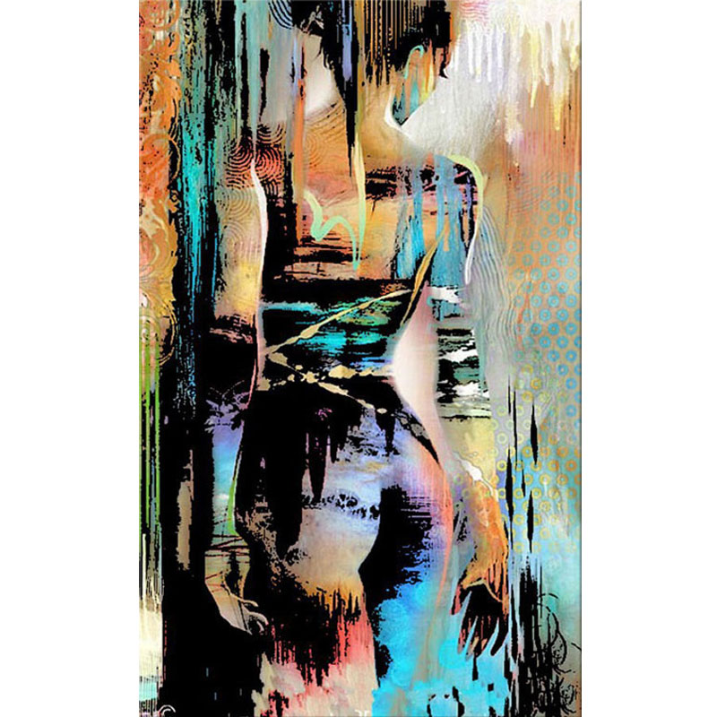 2 Oil Paintings Set Modern Decor on Canvas Nude Art Breast and Bottoms