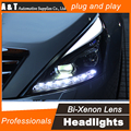 A&T Car Styling for Nissan Teana LED Headlight 2012 Altima Headlight DRL Lens Double Beam H7 HID Xenon bi xenon lens